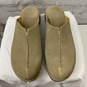 Clarks Suede Mules Slip-on